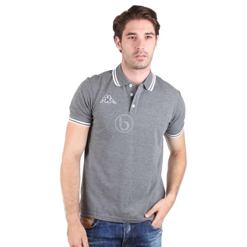 Kappa Men's Ht. Grey Polo Shirt