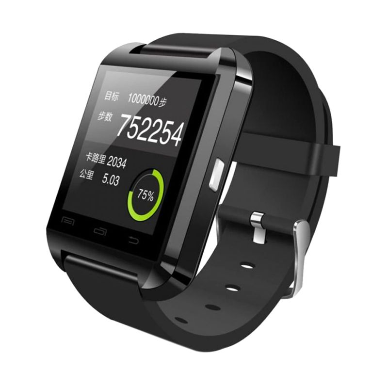 I-ONe U8 Hitam Smartwatch for Android and iOS