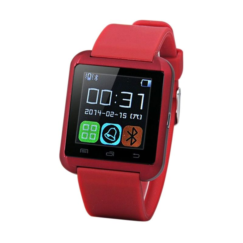 I-ONe U8 Merah Smartwatch for Android and iOS