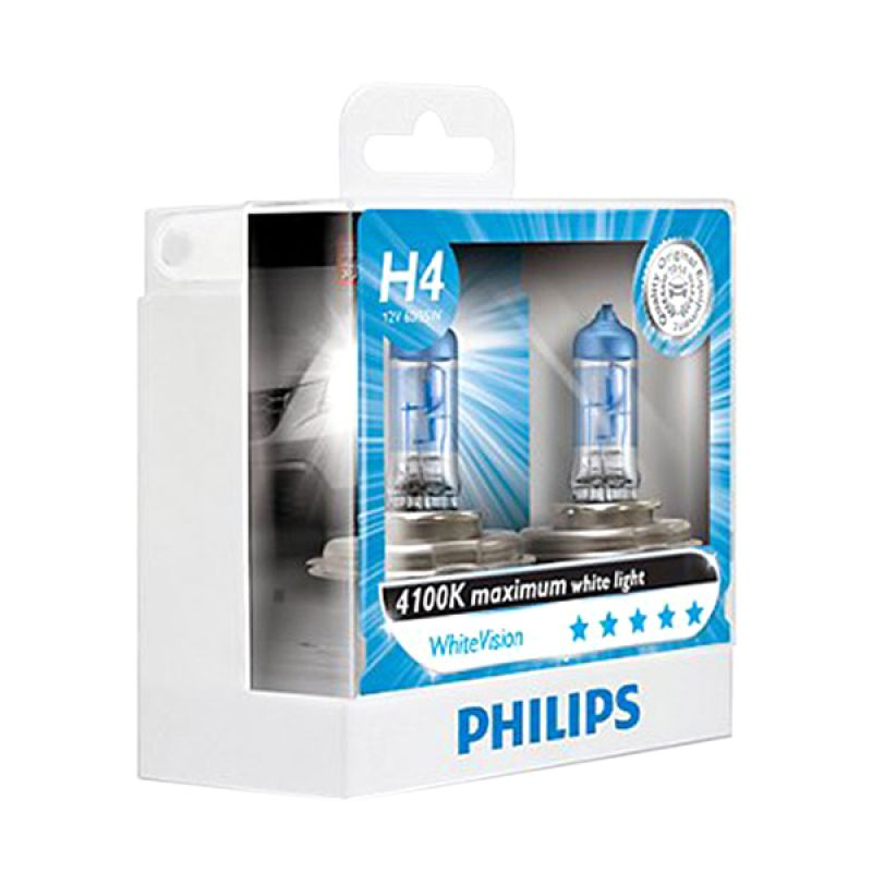 Philips H4 Maximum White Vision Bohlam Mobil