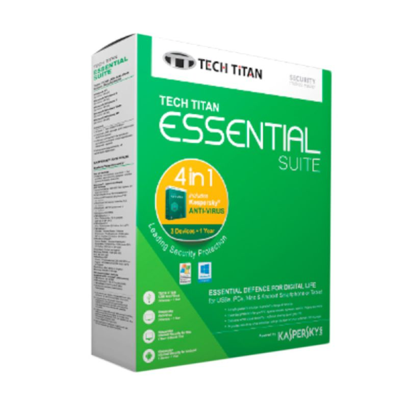 Kaspersky Tech Titan internet Security  2016 Software