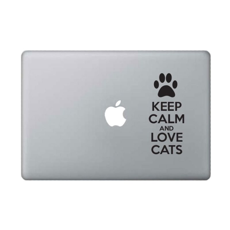 KATZEdecal Love Cats Black