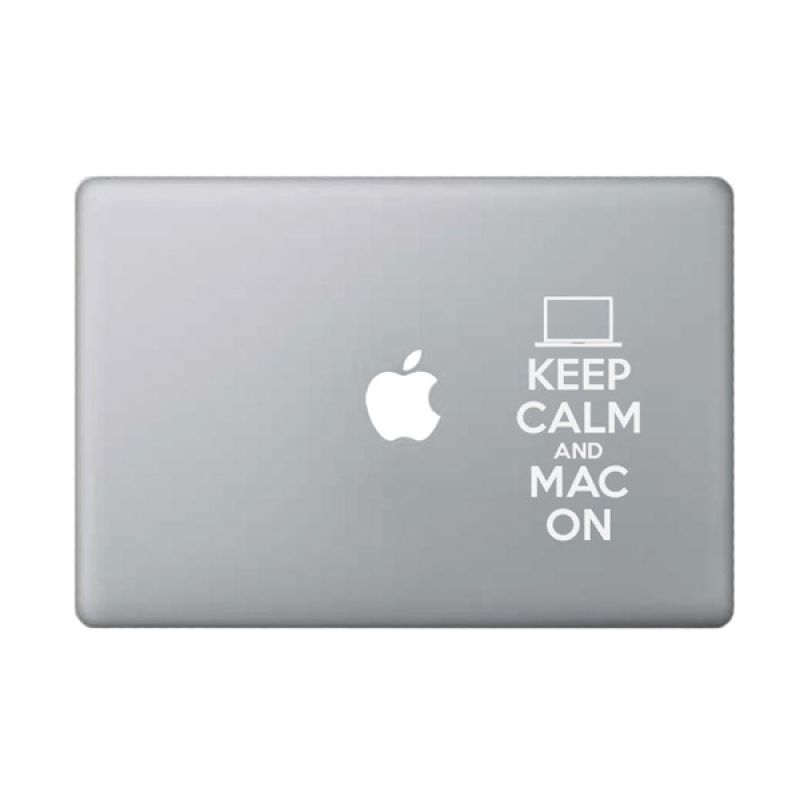 KATZEdecal Mac On White