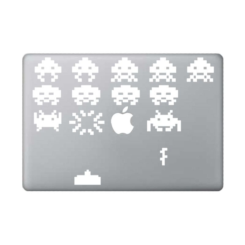 KATZE decal Space Invader for Macbook 13inch White