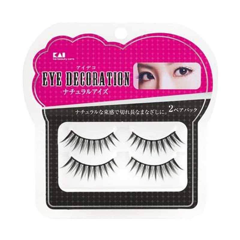 KAI 2-Pack Eyelash Decorative HC-1535 Natural