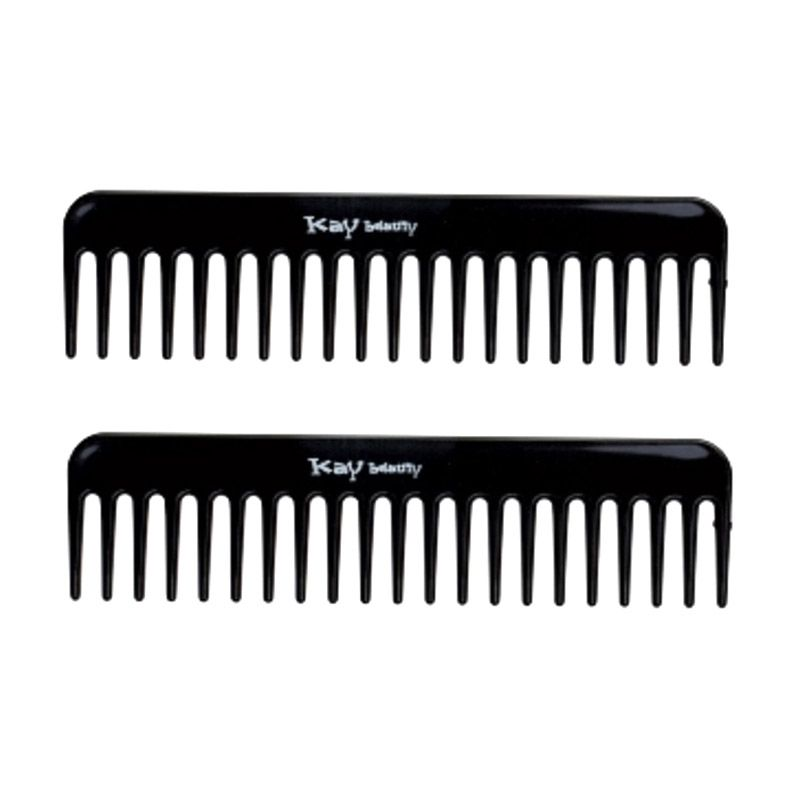 Kay Beauty Black Wide Tooth Comb [2 in 1]