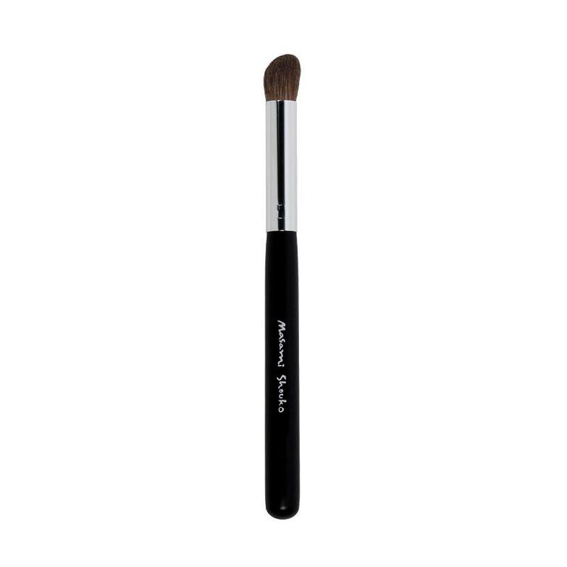 Masami Shouko Angled Shading Brush Silver Hitam Peralatan Make-Up [Size L]