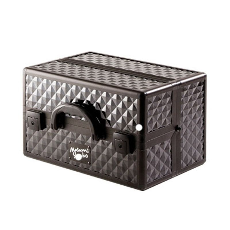 Masami Shouko Diamond Four Tier Black Make Up Case [Size L]