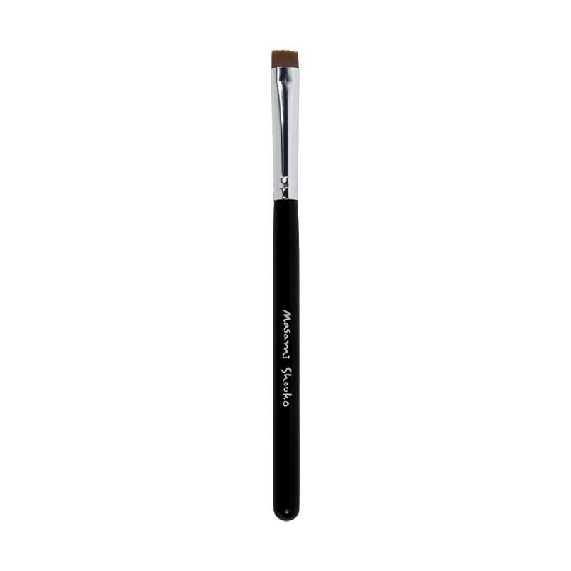 Masami Shouko Flat Definer Brush Silver Hitam Peralatan Make-Up