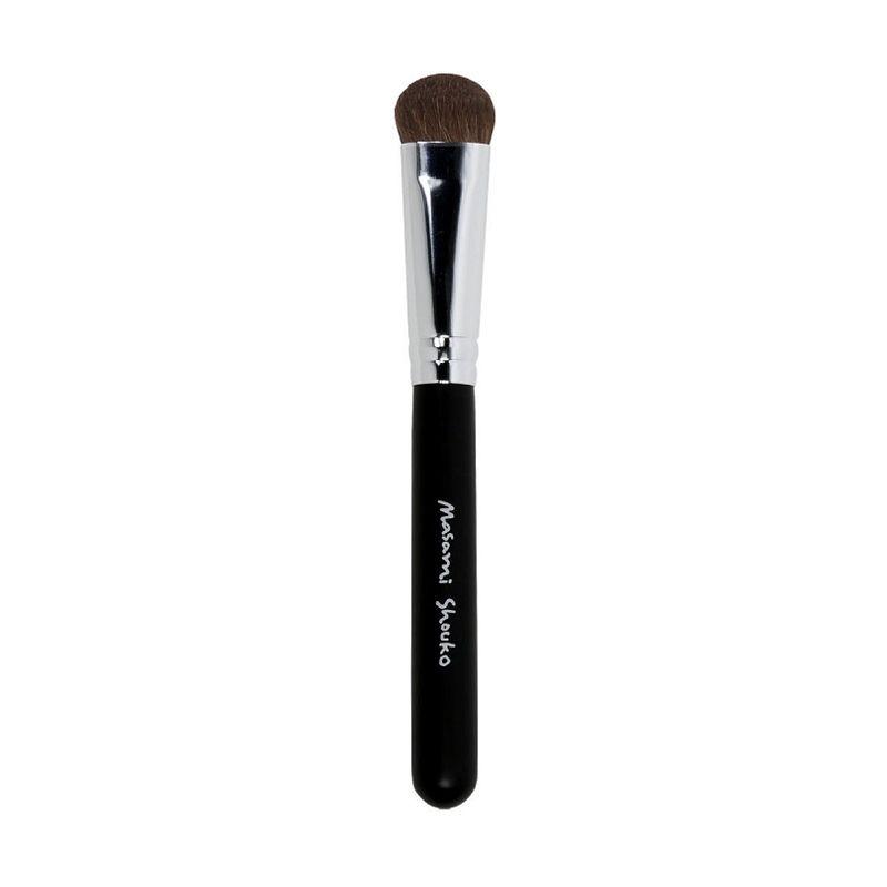 Masami Shouko Fluff Brush Silver Hitam Peralatan Make-Up [Size L]