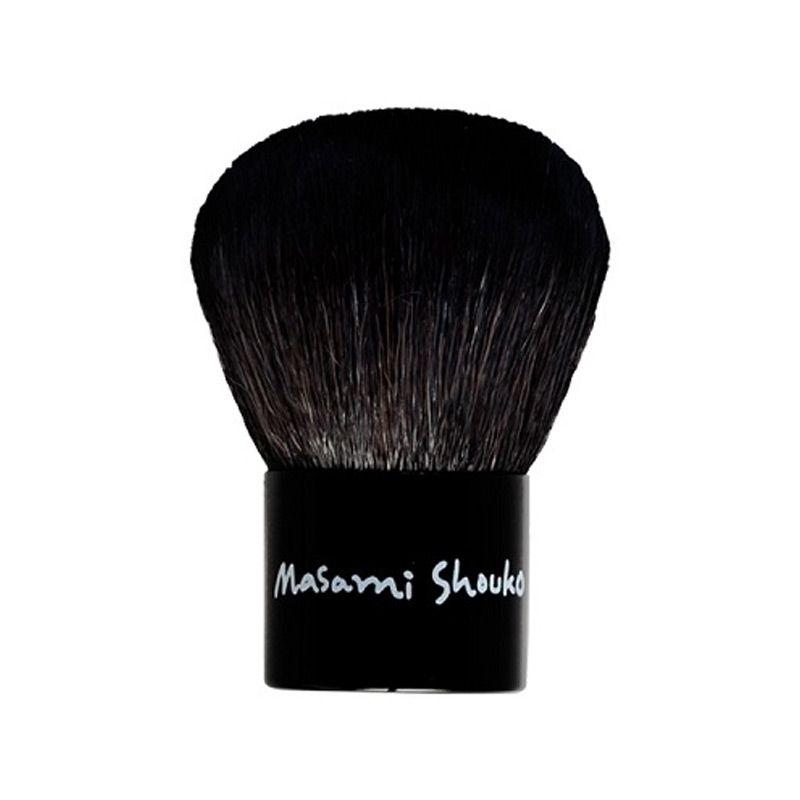 Masami Shouko Kabuki Brush Make-Up + Leather Pouch