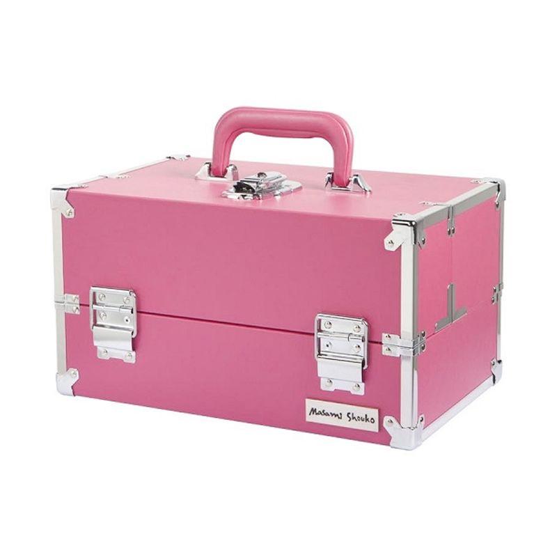 Masami Shouko M PVC Pink Four Tier Make up Case