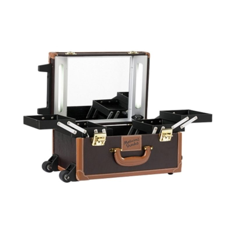 Masami Shouko Portable Makeup Studio Brown Make Up Case
