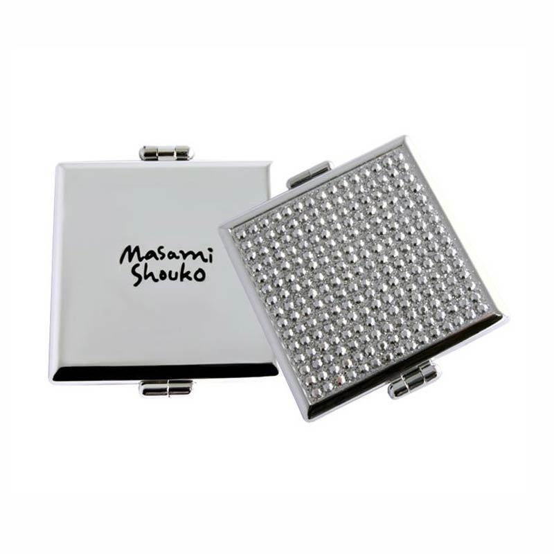 Masami Shouko Silver Diamond Square Compact Mirror