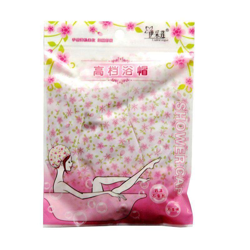 Shower Cap Flower Pink