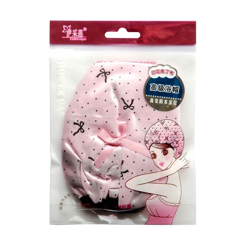 Shower Cap Ribbon Pink