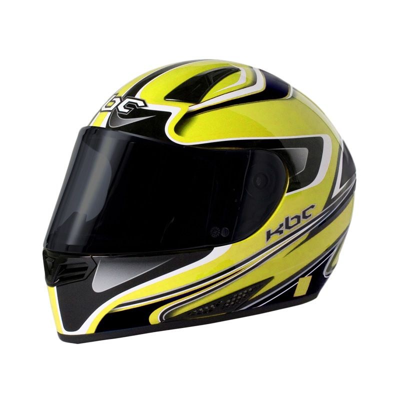 KBC V Euro Yellow Black Helm Full Face