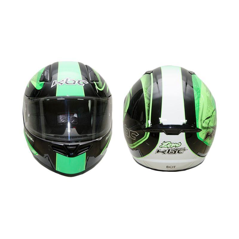 KBC V Zero Black Green Helm Full Face