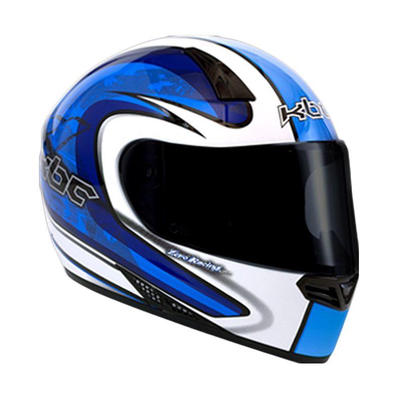 KBC V Zero White Blue Helm Full Face
