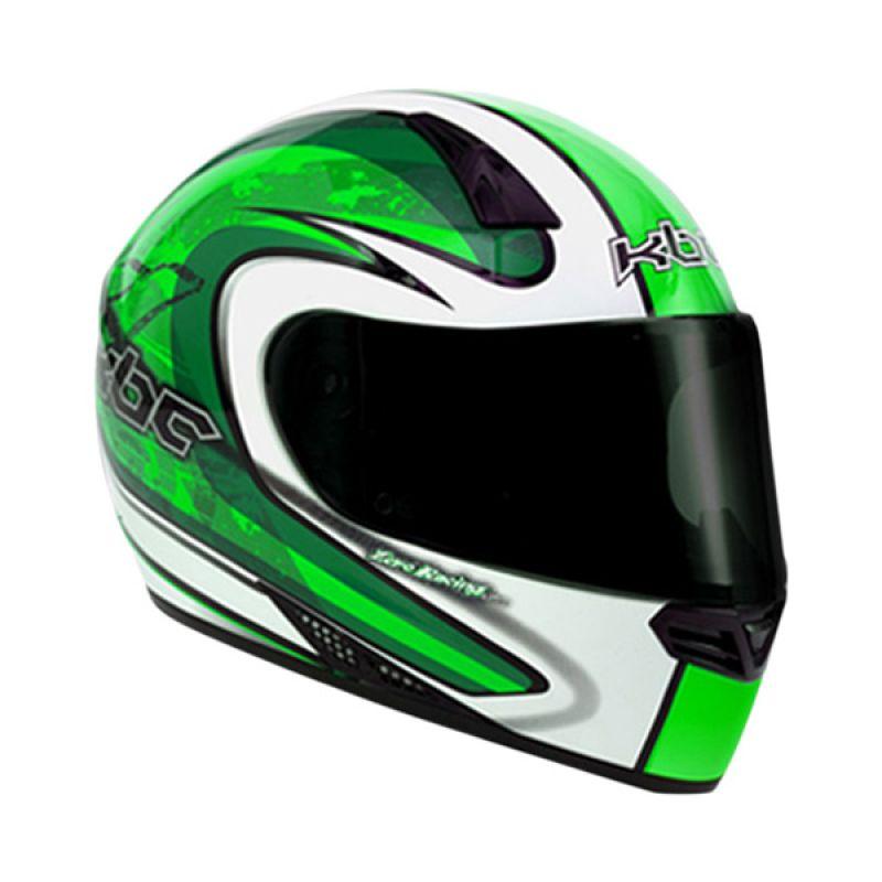 KBC V Zero White Green Helm Full Face