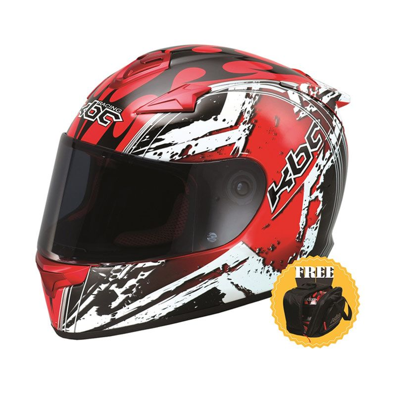 harga KBC VR-4R Star Black Red Helm Full Face + Tas Eksklusif Blibli.com