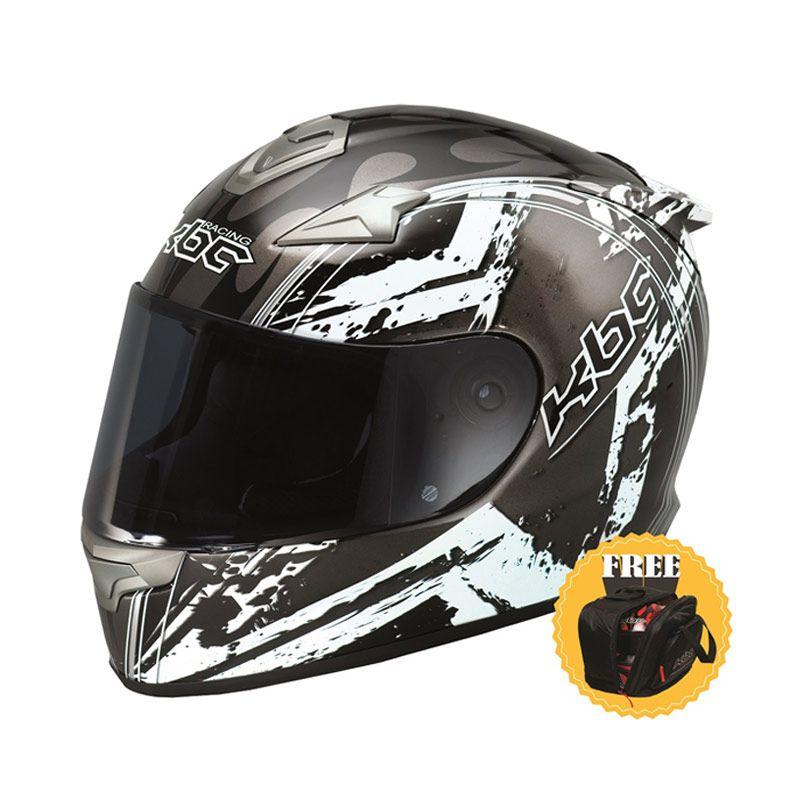 KBC VR-4R Star Black/White Helm Full Face + Tas