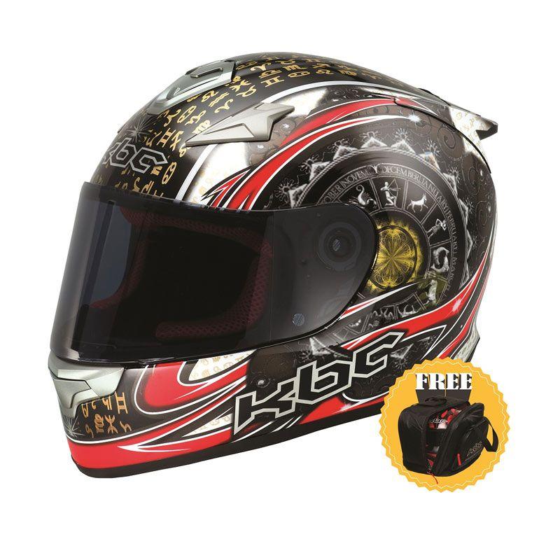 KBC VR-4R Zodiac Black Red White Helm Full Face + Tas Eksklusif