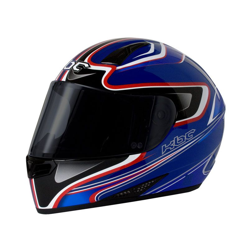 KBC V Euro Blue Red Helm Full Face