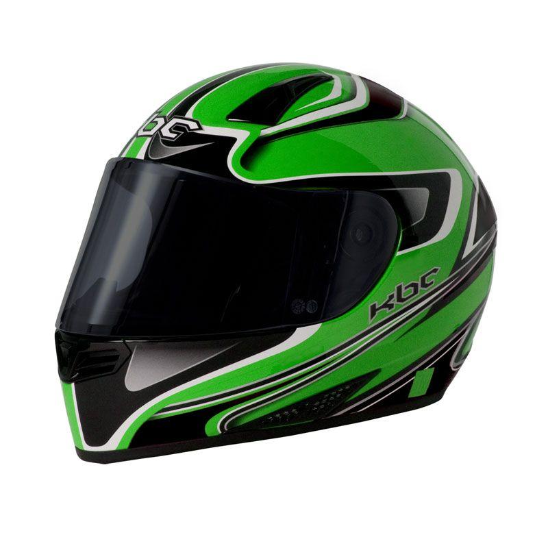 KBC V Euro Green Black Helm Full Face