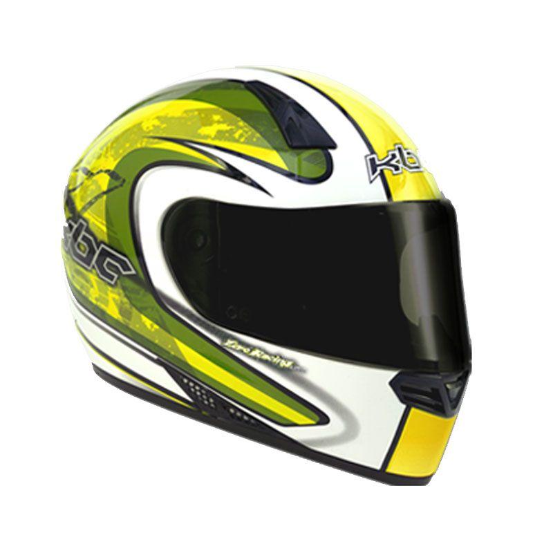 KBC V Zero White Yellow Helm Full Face