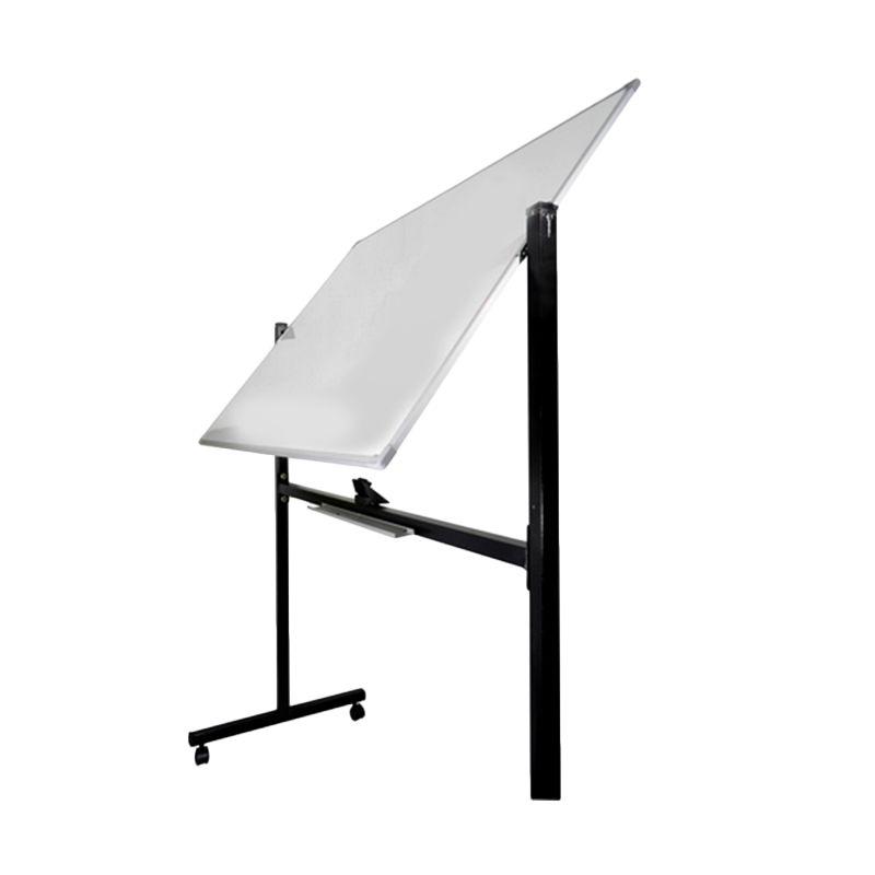 Keiko White Board Double Face Stand Papan Tulis [60 x 120 cm]