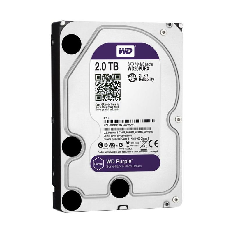 WD 2 TB Purple Hard Disk Internal [3.5 Inch]