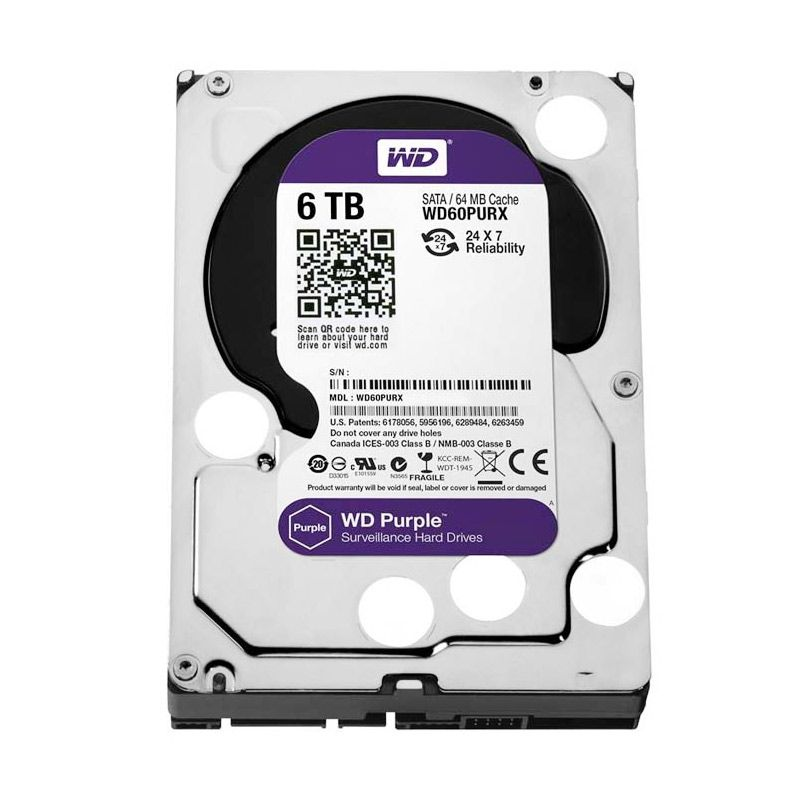 WD 6 TB Purple Harddisk Internal [3.5 Inch]