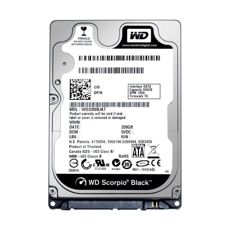WD Scorpio 500 GB Black Hard Disk Internal