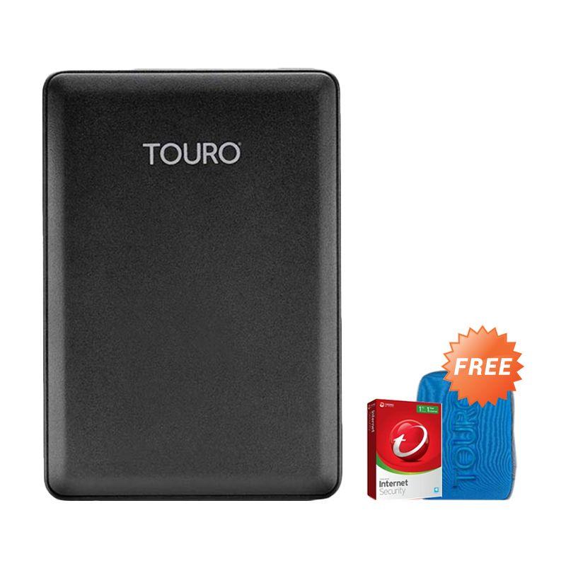 Hitachi HGST Touro Mobile 1 TB Hard Disk Eksternal [2.5 Inch] + Pouch + Anti Virus