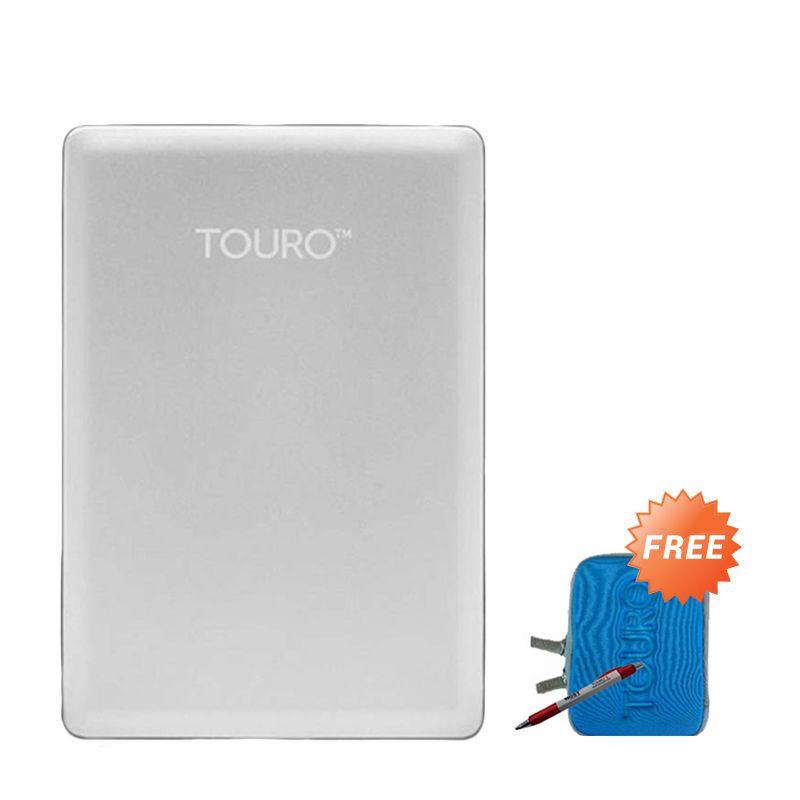 Hitachi Touro S 1 TB Silver Hard Disk Eksternal + Pouch + Pen