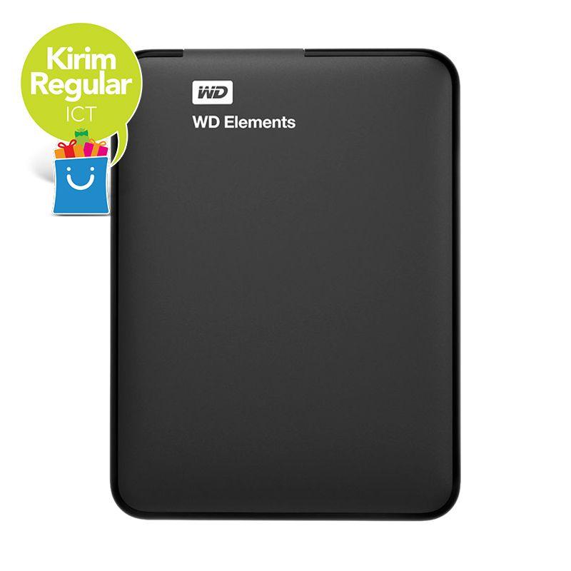 harga Pre Offer ICT - Western Digital Elements 2.5 inch USB 3.0 2TB Black Hardisk Eksternal + Kaspersky Anti Virus + Pouch WD Blibli.com