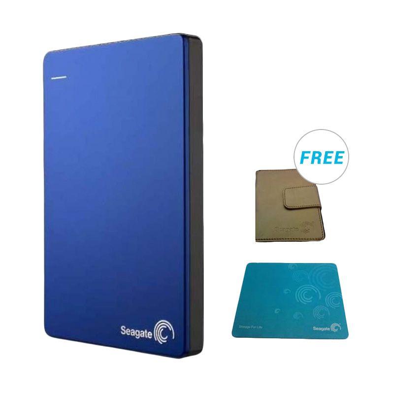 Seagate Backup Plus 2 TB Blue Harddisk Eksternal - Bonus