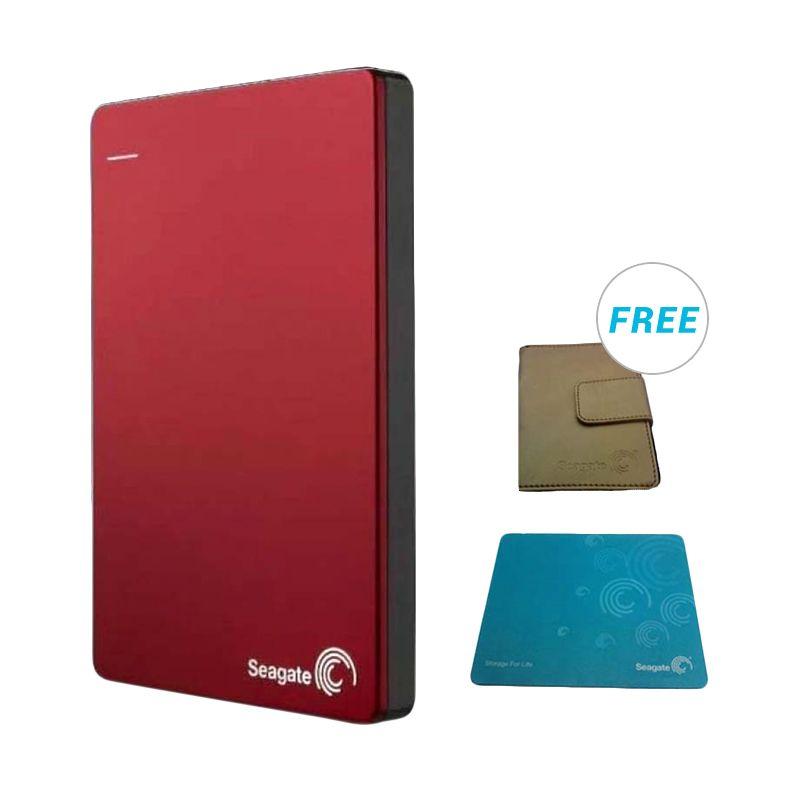 Seagate Backup Plus 2 TB Red Harddisk Eksternal - Bonus