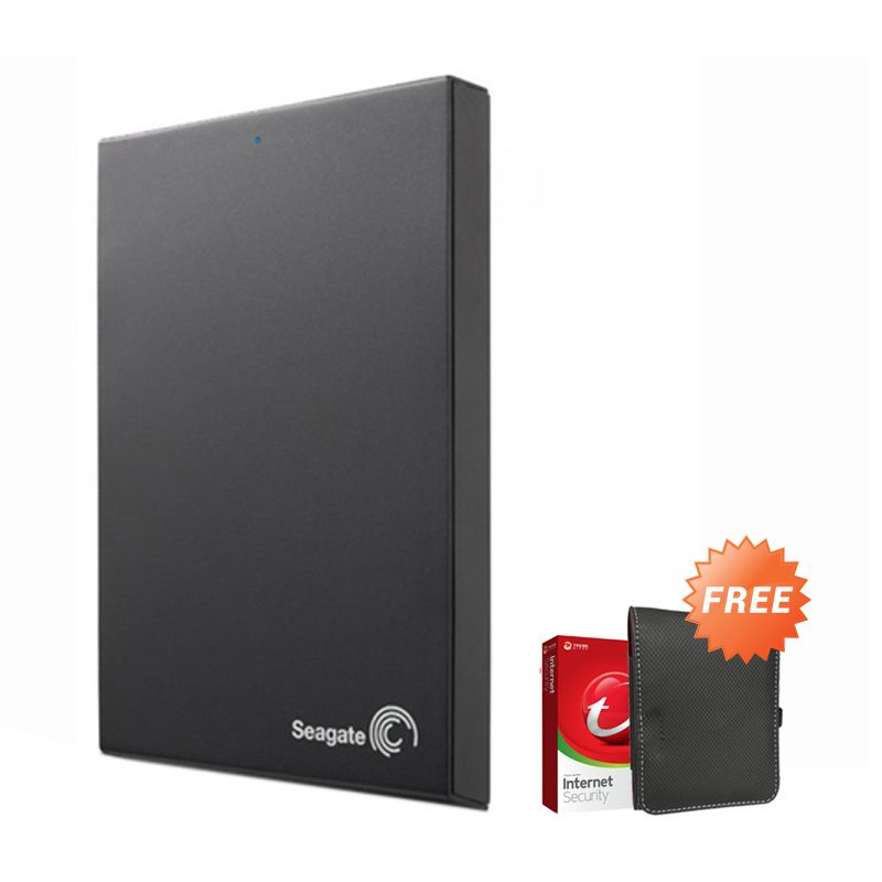 Seagate Expansion 1 TB Hard Disk Eksternal [2.5 Inch] + Pouch + Antivirus Trend Micro