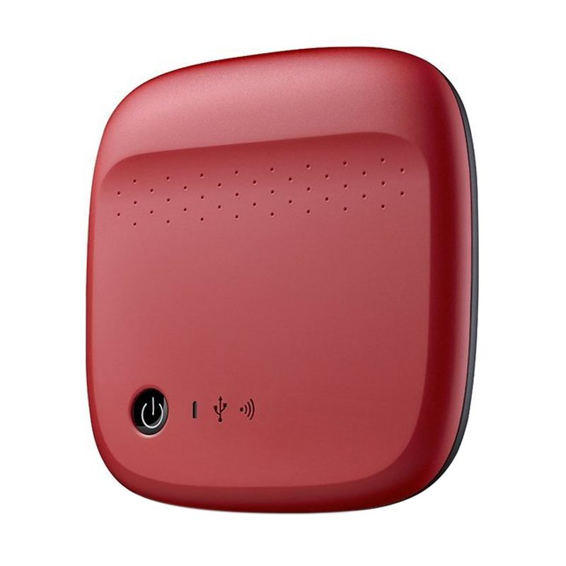 Seagate Wireless Merah Harddisk Eksternal [500 GB]