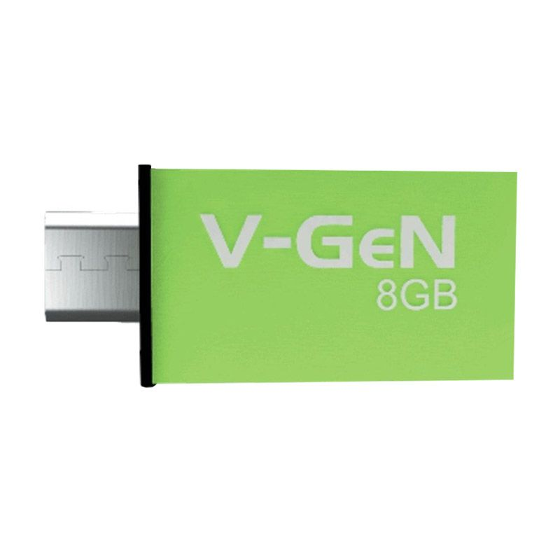 V-GeN New Hijau OTG Flashdrive [8 GB]