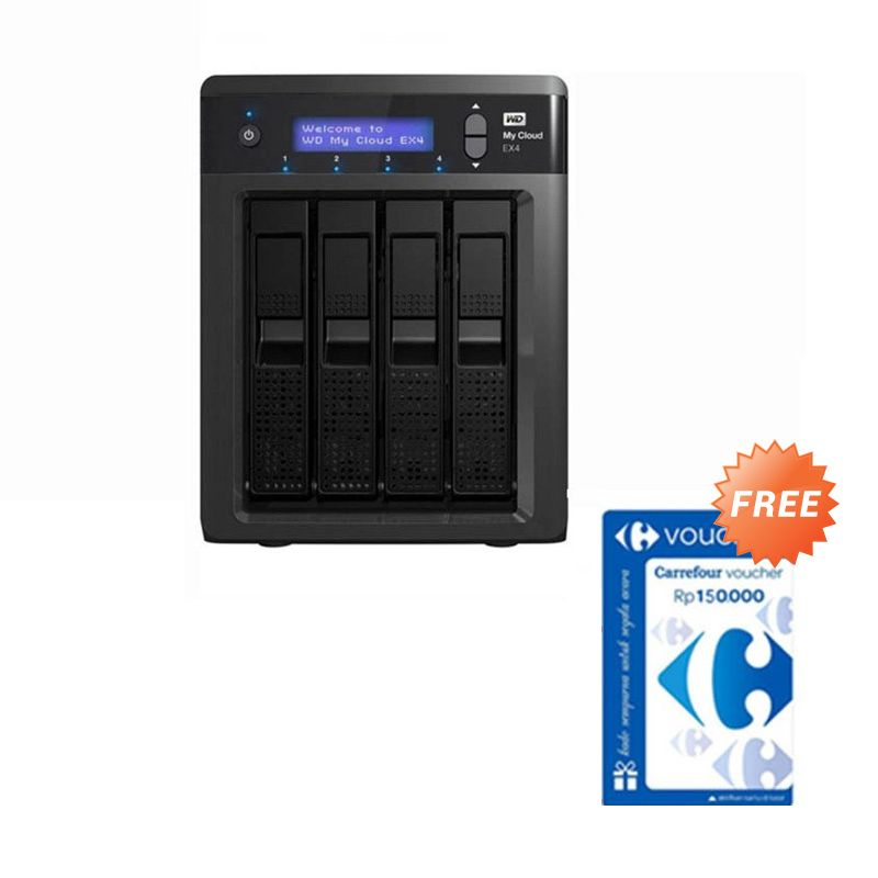 WD My Cloud EX4 NAS [16 TB] + Voucher