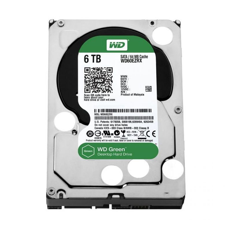 WD Caviar Green 3.5 Inch 5400RPM [6 TB] Harddisk Internal