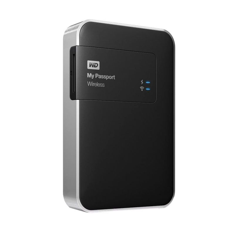 WD My Passport Wireless 2 TB Black Hardisk Eksternal