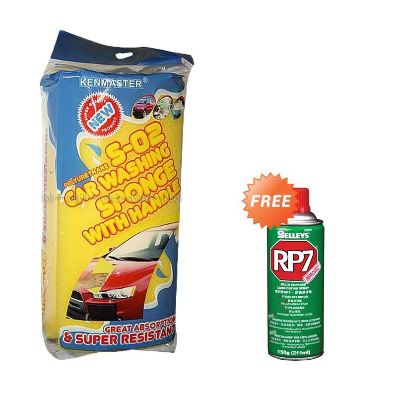 Kenmaster Busa Car Washing S 02 + Pelumas Multiguna Spray [150 gr]