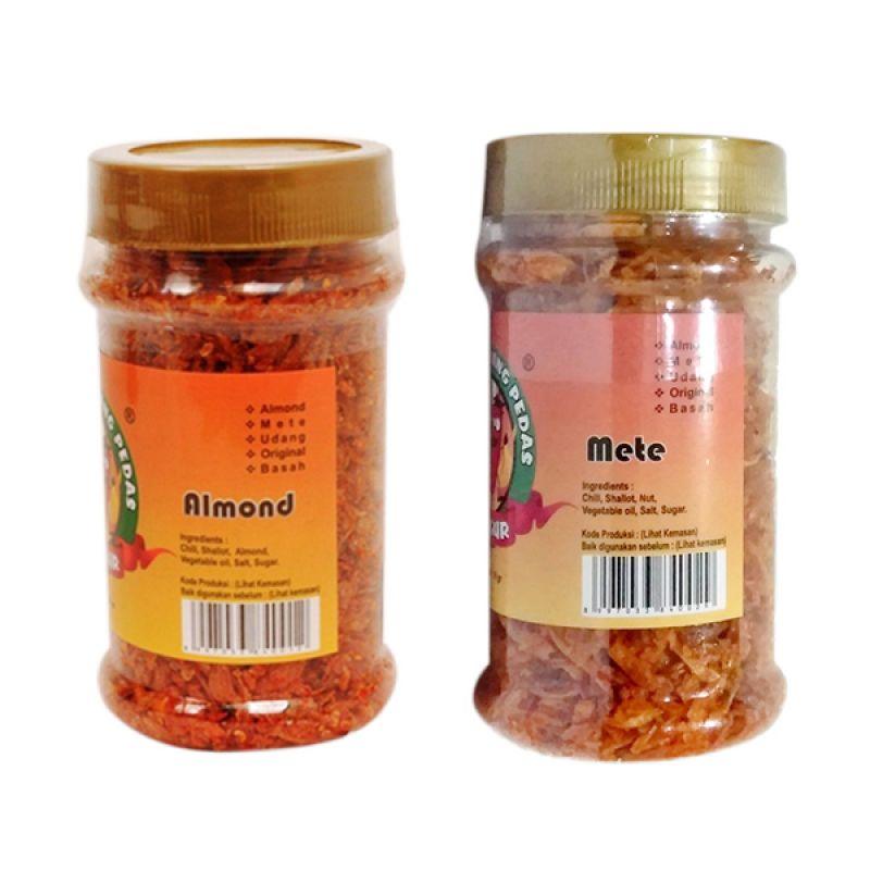 Jelegur Sambal Bawang Kering Almond dan Mete Set [2 Pcs]