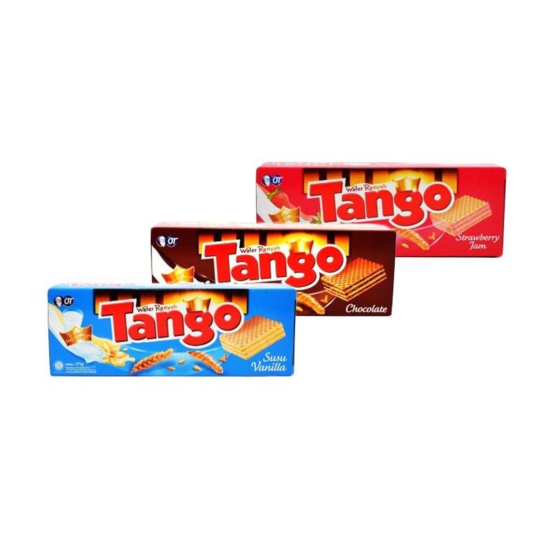 Orang Tua Wafer Tango Biskuit [Vanila/Cokelat/Strawbery]