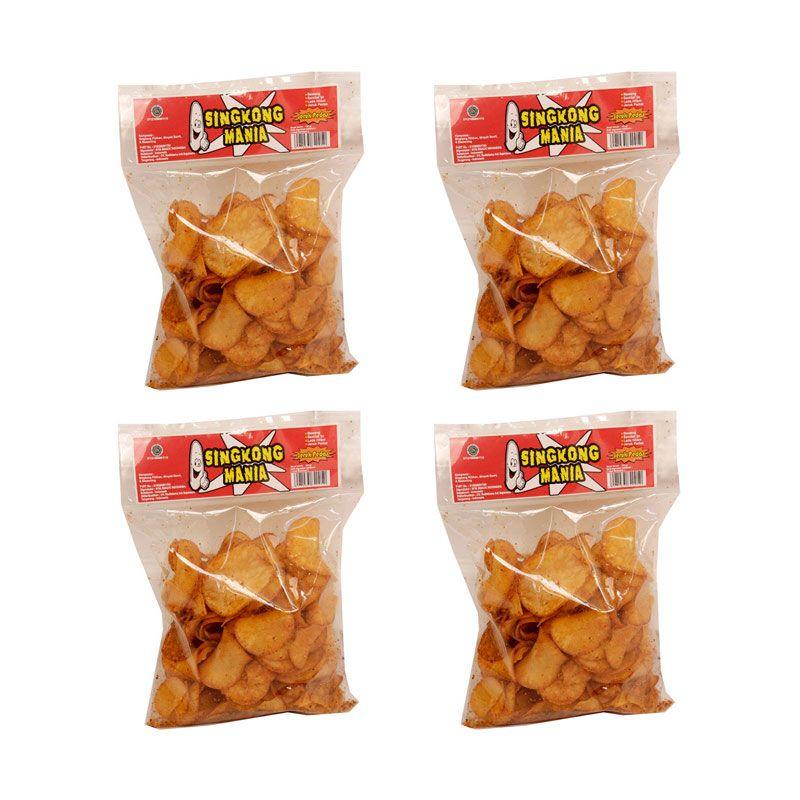Singkong Mania Jeruk Pedas Cemilan Tradisional [4 Pcs]