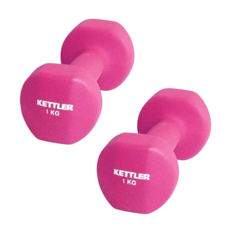 Kettler 0801 Dumbbell Neoprene - Pink [2 kg/pair]